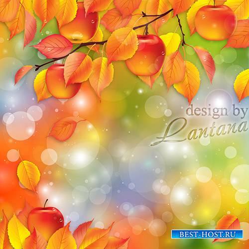 Psd исходник - Осень кисточку достала и все красить принялась