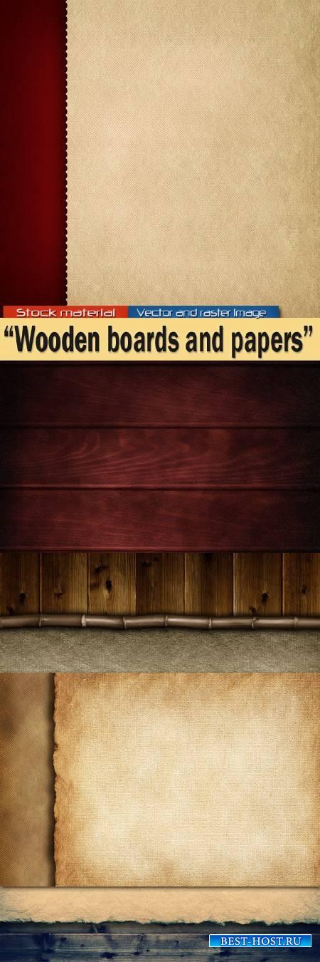 Деревянные доски и лист бумаги – Текстуры для творчества