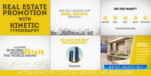 Real Estate Promotion With Kinetic Typography - Project for After Effects ( ...