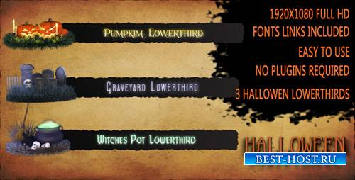 Halloween Lower Thirds - Project for After Effects (Videohive)