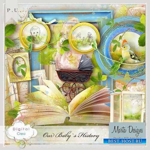 Детский скрап-комплект - Наши детские истории