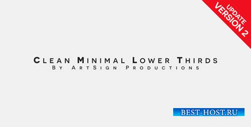 Clean Minimal Lower Thirds - Project for After Effects (Videohive)