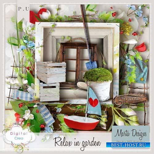 Цветочный скрап-комплект - Отдохни в саду