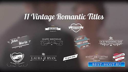 Vintage Romantic Titles - After Effects Template (Motion Array)