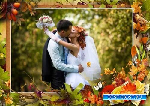 Рамка для фотошопа – Здравствуй, осень