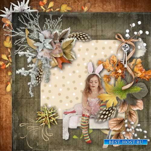 Осенний скрап-набор - Когда осень встречает зиму