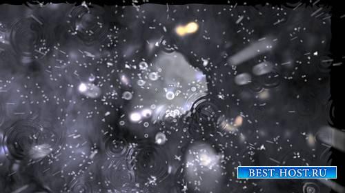 Футаж - Летящие капли дождя