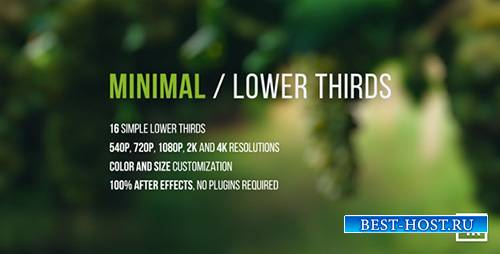 Minimal / Lower Thirds - Project for After Effects (Videohive)