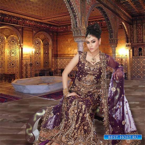 Шаблон  женский – Девушка в сари