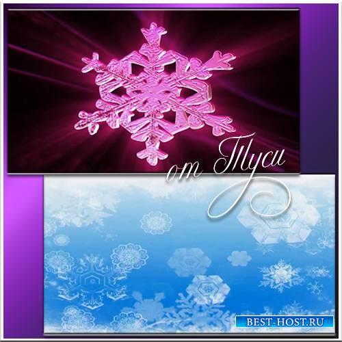 Снежинки - Футажи для видеомонтажа