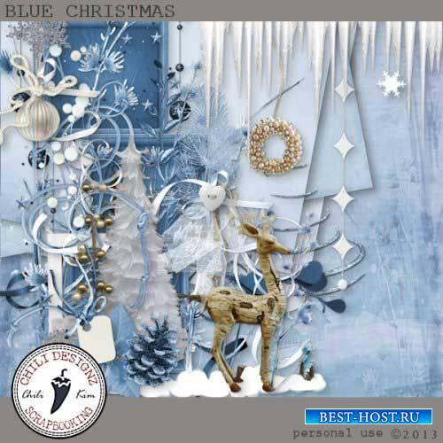 Зимний скрап-набор - Голубое Рождество