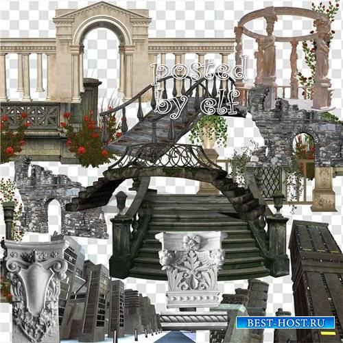 Архитектурные строения, колонны, мосты, арки