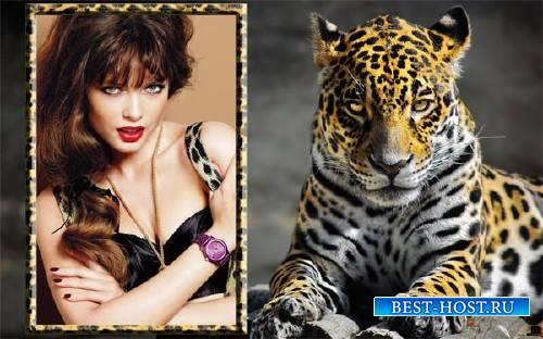 Рамка к фото - Изящный леопард