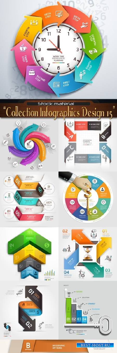 Collection Infographics Design Elements 15
