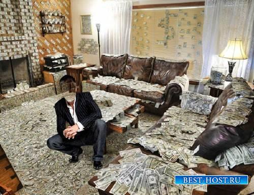 Шаблон для мужчин - Комната из долларов