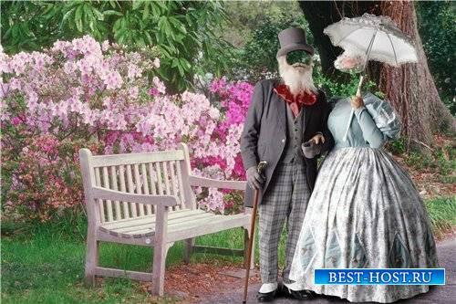Парный шаблон для фотошопа – Пожилая пара