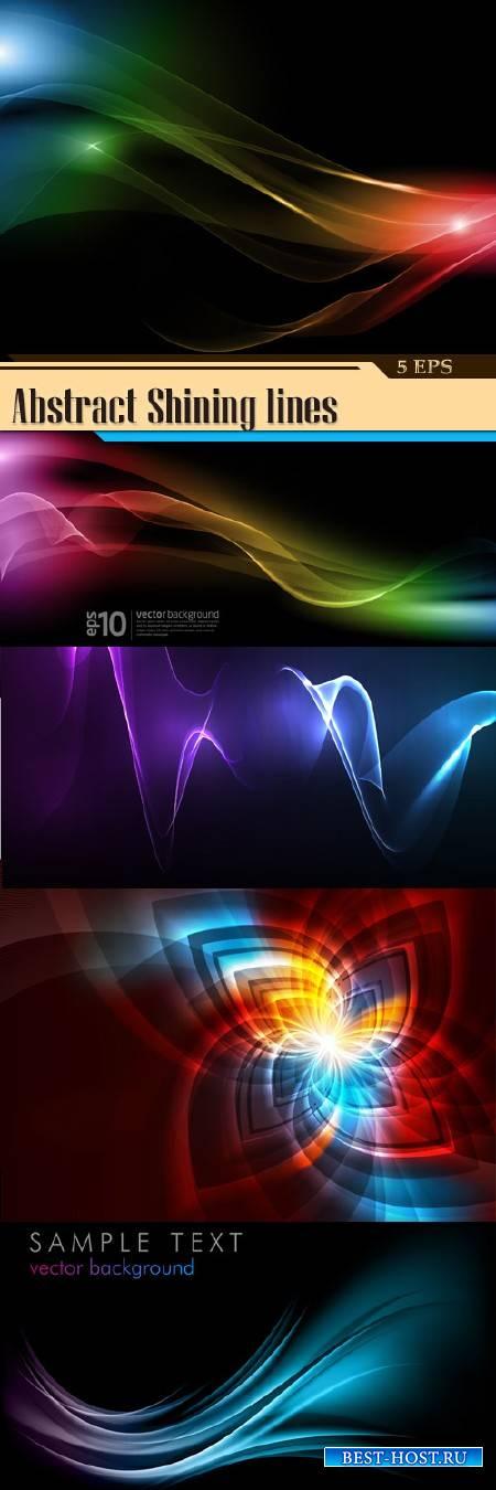 Абстрактные фоны - Светящиеся линии