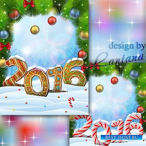 PSD исходник - Пусть сладким будет Новый год