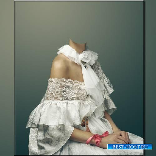 Шаблон для фотомонтажа - В платье ХІХ века