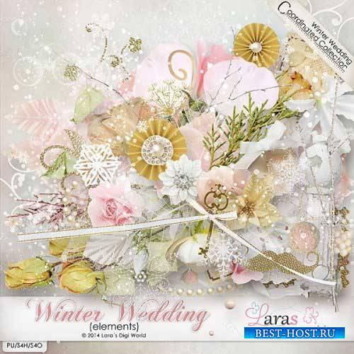 Свадебный скрап-комплект - Зимняя свадьба