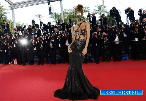 Шаблон для фотошопа - Знаменитость в платье