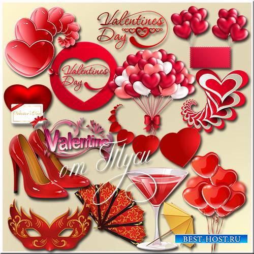 Посылаю валентинку в виде сердца моего - Клипарт