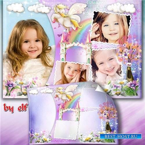Фотоколлаж на 4 фото - Маленькая принцесса