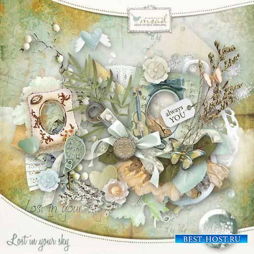 Винтажный скрап-комплект - Lost in your sky