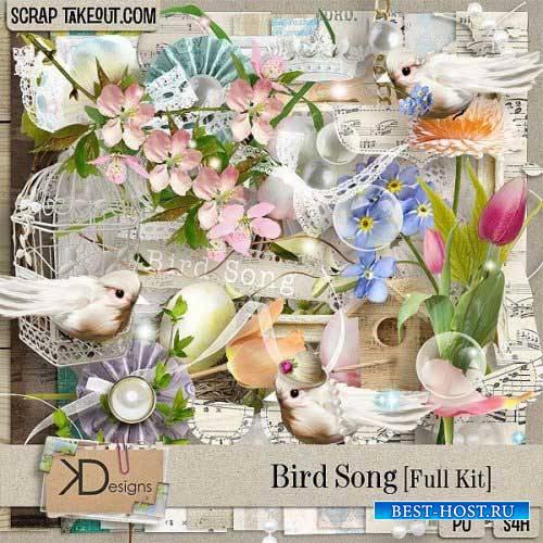 Весенний скрап-комплект - Птичье пение