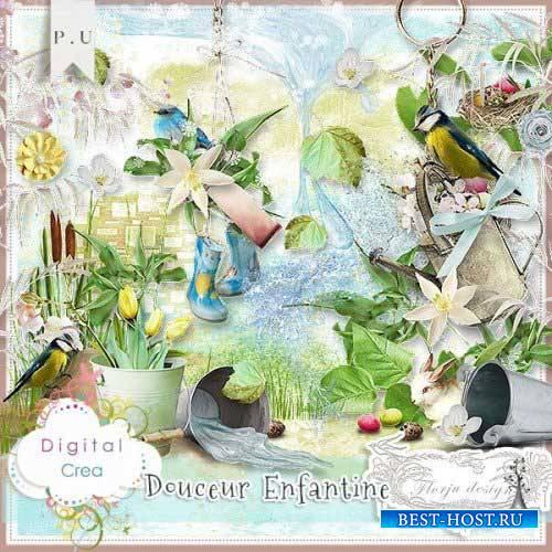 Весенний скрап-комплект - Douceur enfantine