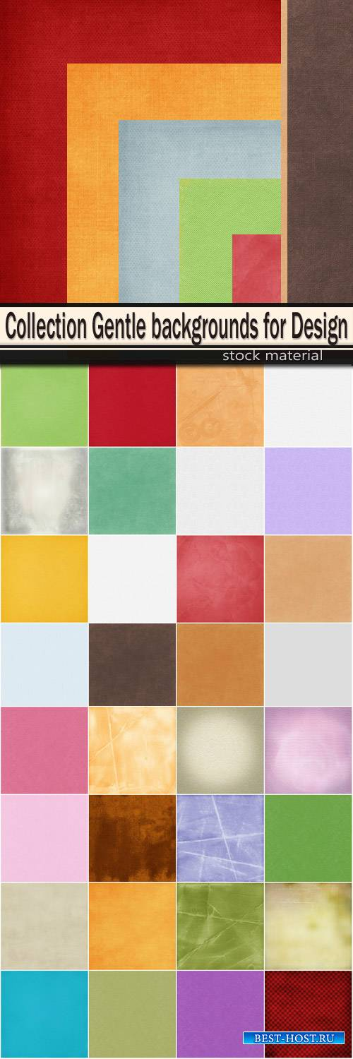 Collection Gentle backgrounds for Design