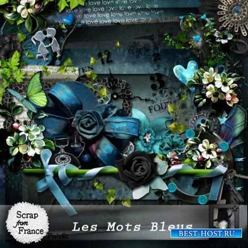 Романтический скрап-набор - Les mots bleus