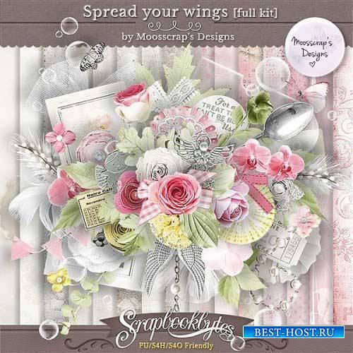 Романтический скрап-набор - Расправь свои крылья