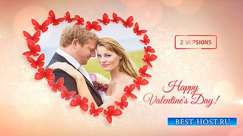 Sweet Butterflies: Valentine's Day Card - Project for After Effects (Video ...