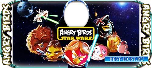 Наклейка на кружку - Angry-Birds
