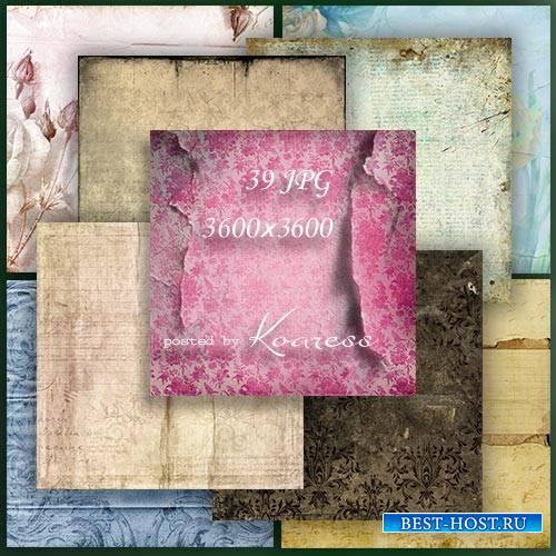 Растровые фоны - Мятая и рваная бумага