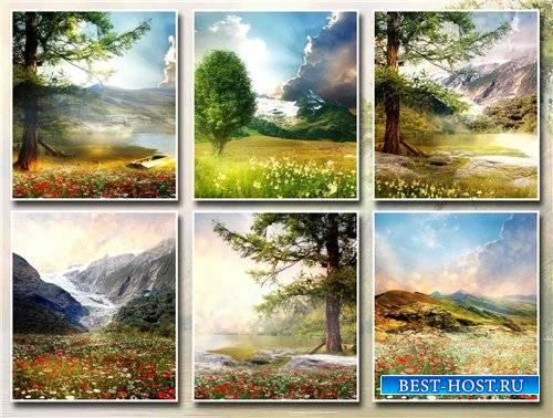 Фоны – Горные пейзажи и природа