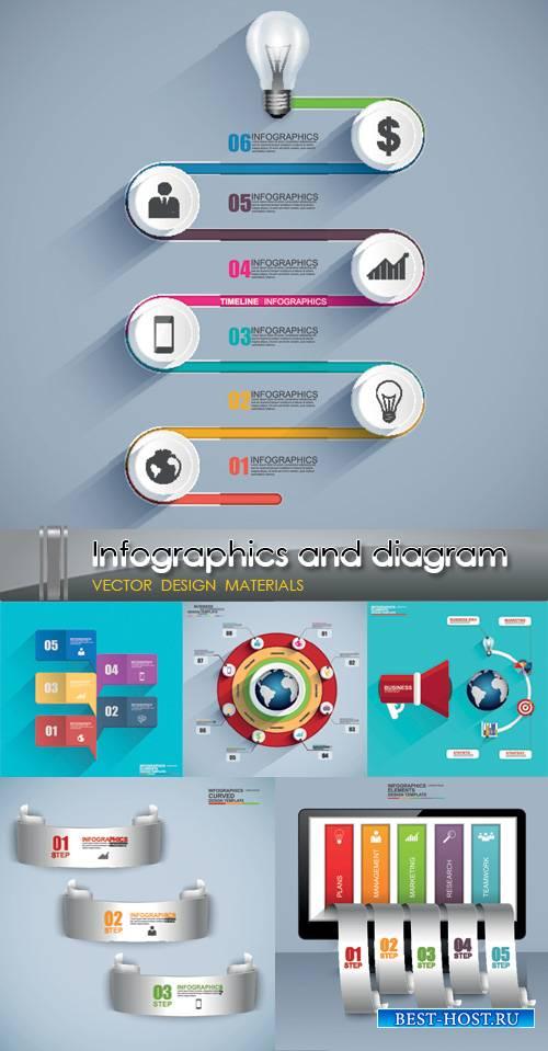 Яркая инфографика в векторе