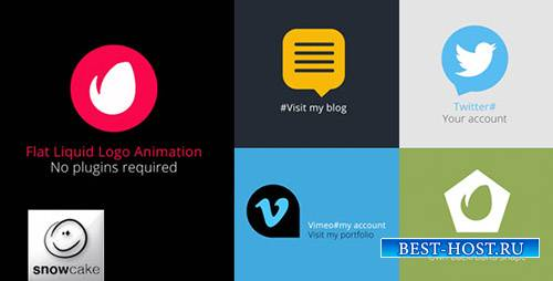 Flat Liquid Logo Animation - Project for After Effects (Videohive)