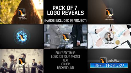 Pack of Hand Logo - Project for After Effects (Videohive)