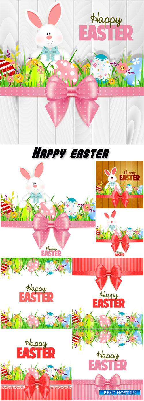 Happy easter, vector bunny easter