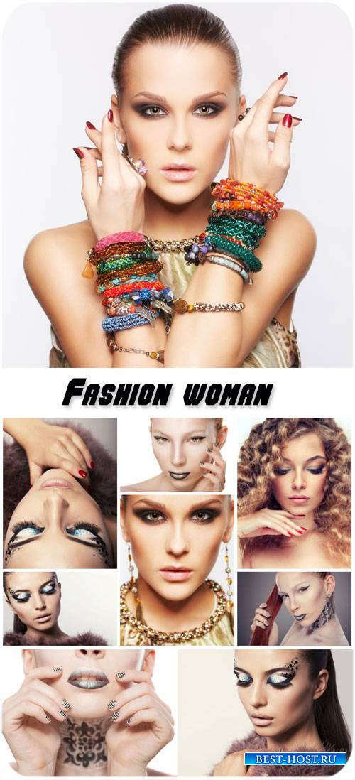 Fashion woman, beautiful makeup