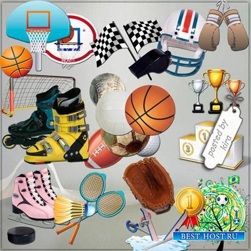 Клипарт в png - Спортивный инвентарь, мячи