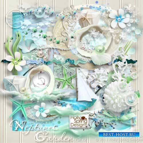 Морской скрап-набор - Сад Нептуна