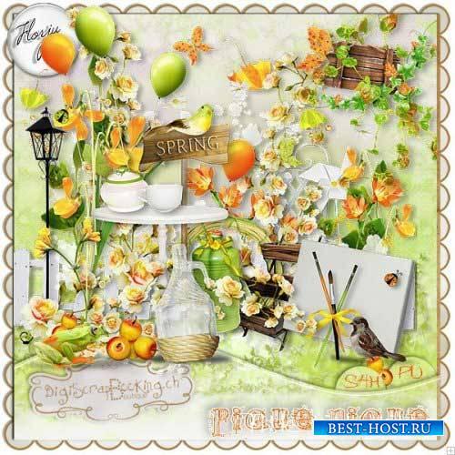 Весенний скрап-набор - Пикник