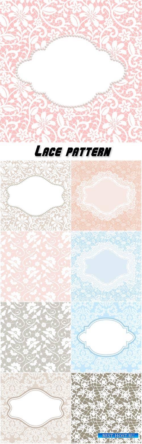 Lace pattern, vector vintage backgrounds