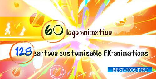 60 Quick Cartoon Logo Reveal Pack &128 Cartoon FX in 9 Packs - Project for  ...