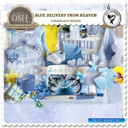 Детский скрап-набор - Blue delivery from heaven