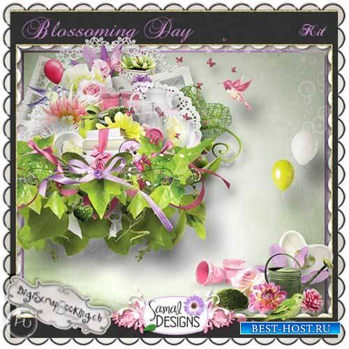 Цветочный скрап-набор - Цветущий денёк