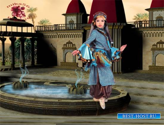Шаблон  детский - Танец у фонтана